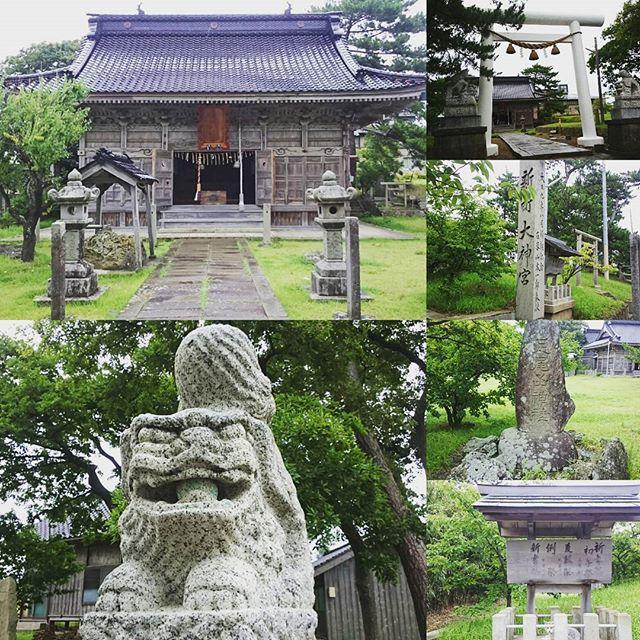 #さむねこさんぽ 「 #新町大神宮 」ですにゃ。地図見てるとすごく神社多いね。 #パワースポット #佐渡島 #散歩
