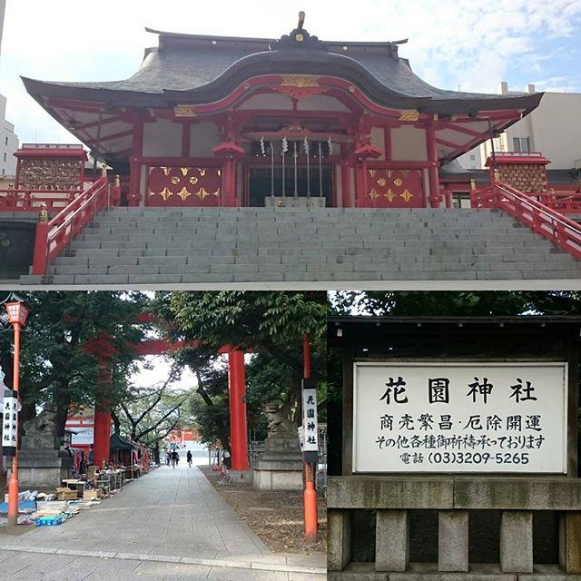 「 #花園神社 」 #商売繁盛 の #パワースポット ですな。ここは #新宿 の #観光スポット で有名ですな。#さむねこさんぽ #散歩