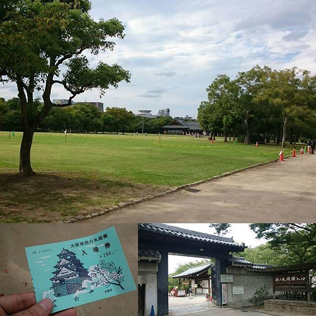 #大阪城 の #黄金の茶室 エリア空いてる!いいね!
