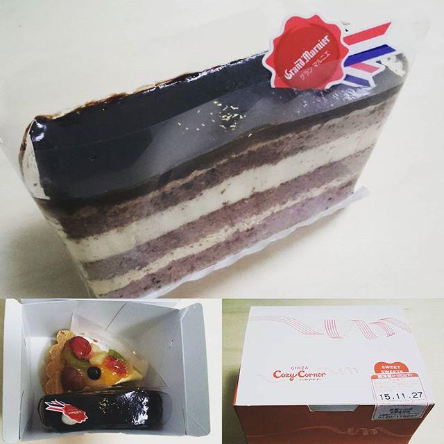 #誕生日ケーキ #コージーコーナー #チョコレートケーキ 誕生日あとわずか… ラストのチョコケーキ モリモリいくにゃ… #回転寿司  食べ過ぎた… #独身貴族 #誕生日