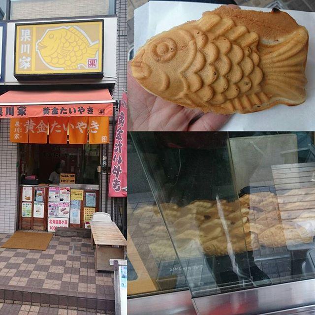 #たい焼き #黄金たいやき 薄皮ぱりぱり系 韓国風 たい焼きですな #鯛 っていうか #鯉 ですにゃ。 #果川家 #プンオパン あんこがちょい酸味系の独特あんですにゃ