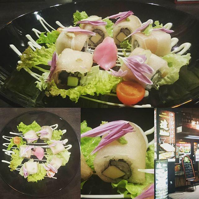 #おすすの店 #今は和牛ステーキの店 #達 #イギリス #リバプール 帰りの #寿司 職人さんは オーラが違いますにゃ! お洒落にうまい!