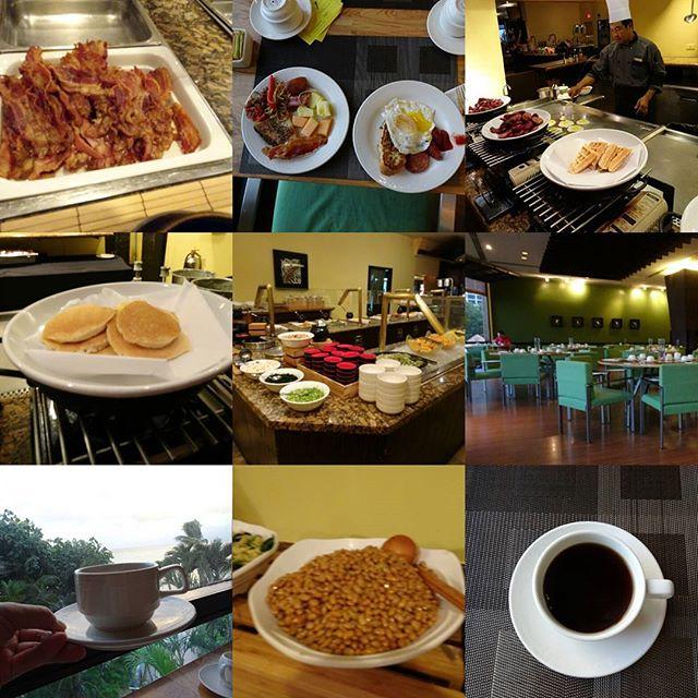 #初めてのグアム #アウトリガーホテル の #朝食 ですにゃ~ #挨拶は英語やね。チケットで食べたからチップは無しで大丈夫。  #グアム #旅行 #guam
