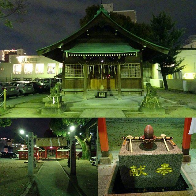 #若宮神社 #子宝 #安産 の #パワースポット ですにゃ!結婚式の帰りで暗かったけどSONYのデジカメで解決!