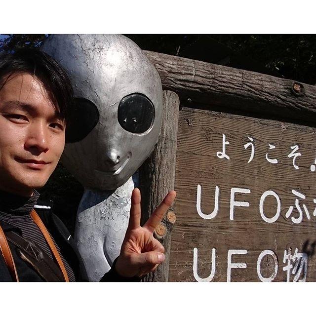 福島駅周辺の散歩 #UFOふれあいの館 到着!看板と一緒に写真とったらグレイが写ってたんですけど!!ここは本物がいる予感だよ 電池がないから朝どりの画像は夜にアップしますわ #侍猫さんぽ