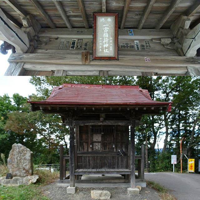福島駅周辺の散歩 #一宮稲荷神社 ですな。車で来てる人は楽に来られる場所なんだろうね。車ならね… っても貸し切り状態なんですけどね! #侍猫さんぽ