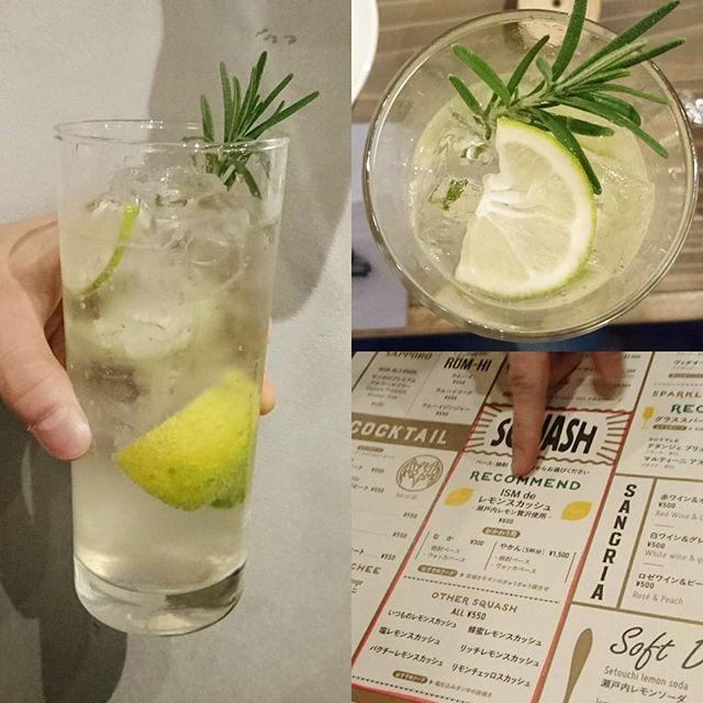 渋谷でおすすめのお店 #ism 乾杯のドリンクは甘口の蜂蜜レモンスカッシュ!おしゃれだし飲み放題でこの演出のドリンクすごくない?しかもスッキリ瀬戸内レモンの飲みやすい味でうまい!おすすめされたISMdeレモンスカッシュにしたかったのですがね侍猫さんは甘いのが好きにゃんでね。お酒好きな人は贅沢レモンなISMdeレモンスカッシュもおしゃれだしレモンがすごいし良さげですぞ!
