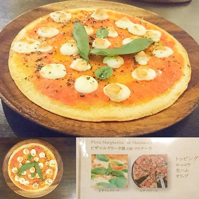 武蔵小山周辺のお食事日記 #ルイ ピザマルゲリータだね。酸味控えめのトマトソースでモリモリ食べたくなるやつ! 生地がカリカリ系に見えるけどふんわり系のやつ。どっちかって言うとしっとり系の安定系の #マルゲリータ やね。 #lui #ピザ #武蔵小山