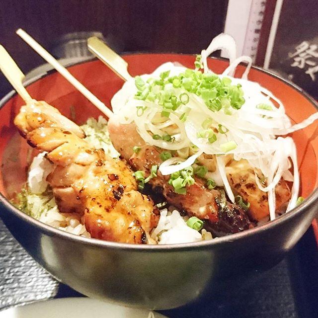 人形町駅周辺のお食事日記 #祭ヤ 焼鶏丼が復活してたから頼んだですよ。まぢうまい! #lunch