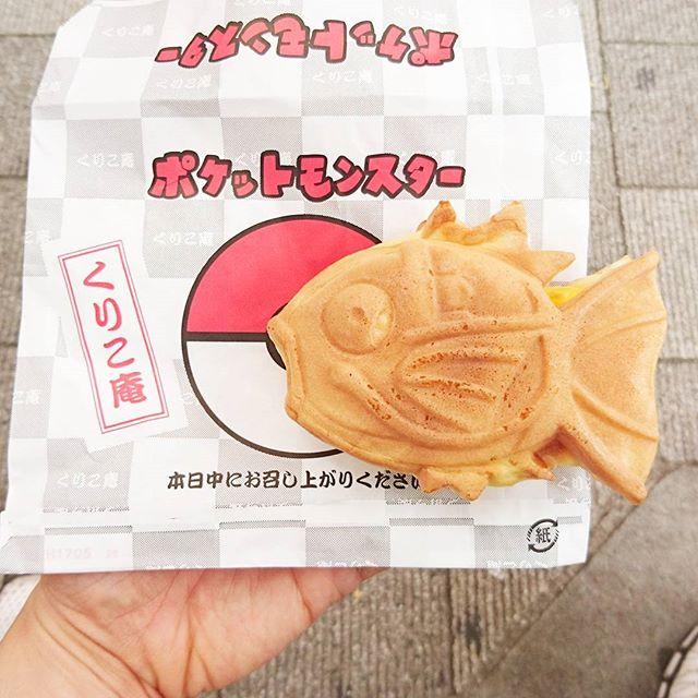 #たい焼き部 #くりこ庵 噂のコイキング焼を食べたよ。味はクリームとチョコの二種類ですぞ。ふわふわ生地のコイキングを頭から食べたとさ…#たい焼き #スイーツ #鯛焼き #sweets #あんこ #おやつ #甘党 #コイキング #コイキング焼き #東京 #秋葉原 #ポケモン #pokemon
